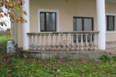 Центральный вход, установка балясин